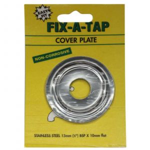 Fix-A-Tap Cover Plate STAINLESS STEEL 1/2 Inch 13mm BSP x 10mm Flat 218049