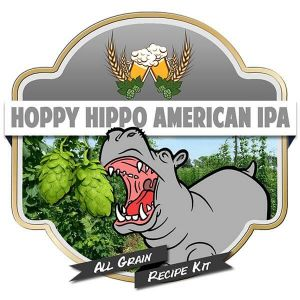 Hoppy Hippo American IPA All Grain Recipe Kit Suits Grainfather Home Brew