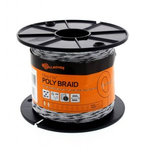 Poly Braid 6 Strand 200m (656 ft) Electric Fencing G62104 Gallagher