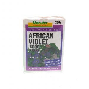 African Violet Food Soluble NPK 18 3 13 Enhance Flowers & Growth Manutec 250gm