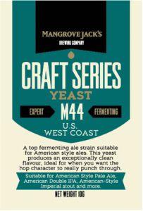 Mangrove Jacks M44 US West Coast Yeast 10g Sachet Home Brew