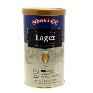 Morgans Blue Mountain Lager Ingredient Can Home Brew Pale Refreshing Pleasing