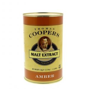 Thomas Coopers Malt Extract Amber Home Brew Beer Pale Crystal Malts Aroma Taste
