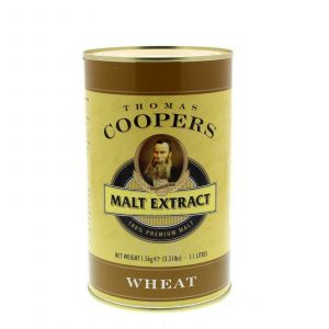 Thomas Coopers Malt Extract Wheat Home Brew Beer Malted Wheat Pale Soft Mouth
