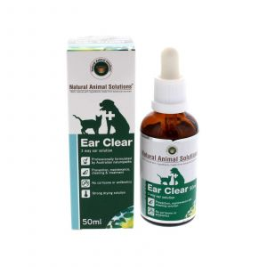 Ear Clear Dog Cat 3 Way Ear Solution 50ml Natural Animal Solutions