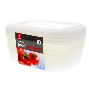 Food Container 4 Pack 1 Litre Microwave Safe Hardy Durable Design Storage