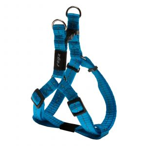 Rogz Nitelife Step-In Dog Harness For Small Dogs Turquoise Reflective Safety