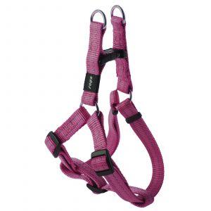 Rogz Snake Step-In Dog Harness For Medium Dogs Pink Reflective Safety Nylon