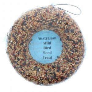 Wild Bird Seed Super Ring 1200ml Bird Food Treat Oats Wheat Barley Safflower