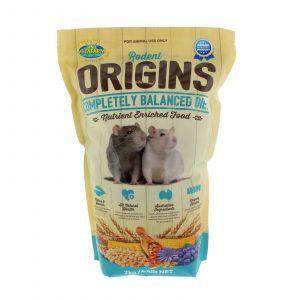 Rodent Origins Complete Diet Pet Food 2kg Premium Quality Designed by Vets