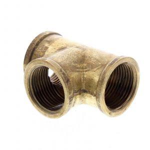 Tee Brass Fitting 3/4 Inch Plumbing Water Irrigation