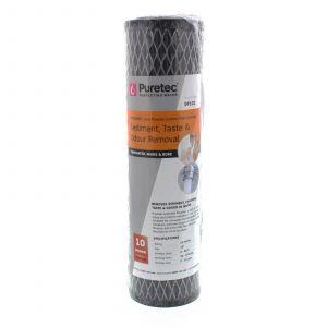 Dual Purpose Carbon Water Filter Cartridge 10 Inch 10 Micron Puretec
