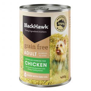 Black Hawk Dog Food Can Chicken 400G Australian Made Premium Pet Food Holistic