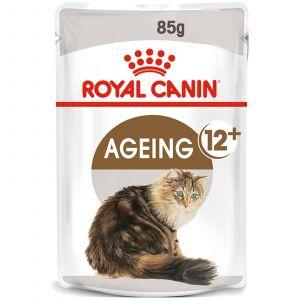Royal Canin Feline Ageing 12 + Gravy 85g Cat Food Wet In Gravy Premium Quality