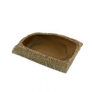 Dyno Rock Corner Fit Bowl Regular Reptile One Realistic Texture Long Lasting