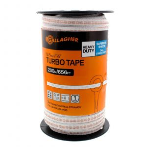 Turbo Tape 12.5mm x 200m UV Resistant Electric Fencing G62354 Gallagher