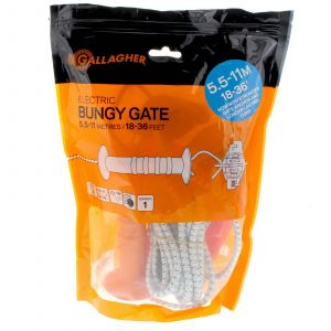 Bungy Gate Kit 5.5m - 11m UV Resistant For Wood Posts Fencing G64051 Gallagher