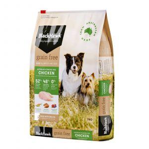 Black Hawk Dog Food Grain Free Chicken 7kg Animal Pet Australian Made Premium