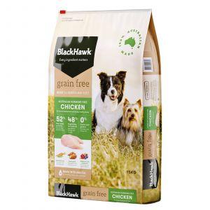Black Hawk Dog Food Grain Free Chicken 15kg Animal Pet Australian Made Premium