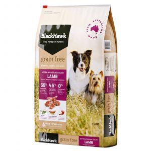 Black Hawk Dog Food Grain Free Lamb 15kg Animal Pet Australian Made Premium