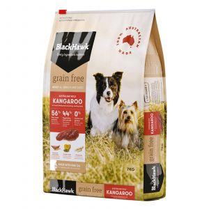 Black Hawk Dog Food Grain Free Kangaroo 7kg Animal Pet Australian Made Premium