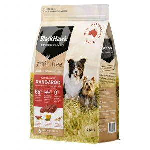 Black Hawk Dog Food Grain Free Kangaroo 2.5kg Animal Pet Australian Made Premium
