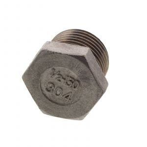 Kettle Plug Stainless Steel 304 1/2 Inch Plug Welded Couplings In Your Kettle