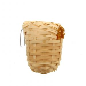 Bird Nest Finch Wicker With Hanging Bracket Small Aviary Toy Health Interactive
