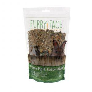 Furry Face Guinea Pig & Rabbit 500g Premium Gourmet Pet Food Grains Vegetables