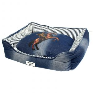 Dog Bed Billy The Kid Large Wow Petz Removable Cushion Design Soft Strong