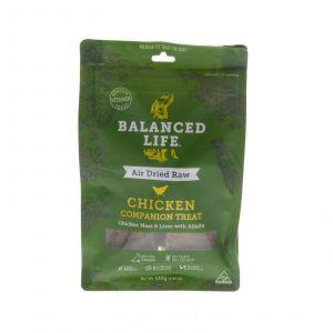 Dog Treat Balanced Life Chicken 140g Gluten Grain Free Prebiotics Air Dried