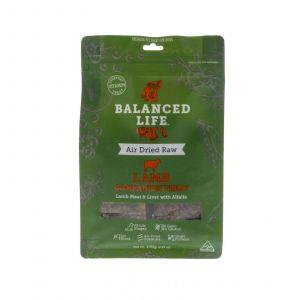 Dog Treat Balanced Life Lamb 140g Gluten Grain Free Natural Prebiotics Air Dried