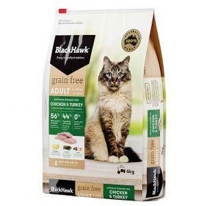 Black Hawk Cat Food Grain Free Chicken & Turkey 6kg Animal Pet Australian Made