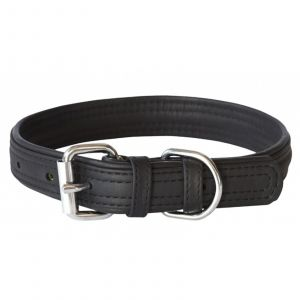 Dog Collar Leather Pin Buckle 15mm Small Black Rogz 100% Genuine Leather