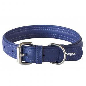Dog Collar Leather Pin Buckle 20mm Medium Purple Rogz 100% Genuine Leather