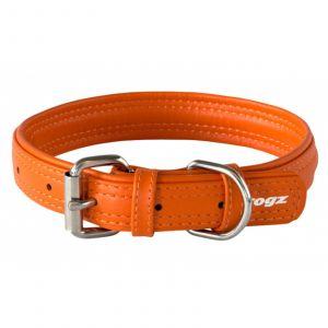 Dog Collar Leather Pin Buckle 35mm X-Large Orange Rogz 100% Genuine Leather