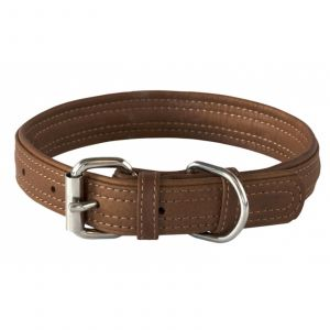 Dog Collar Leather Pin Buckle 35mm X-Large Brown Rogz 100% Genuine Leather