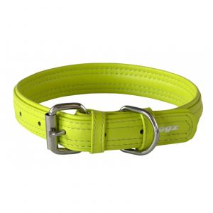 Dog Collar Leather Pin Buckle 35mm X-Large Lime Rogz 100% Genuine Leather