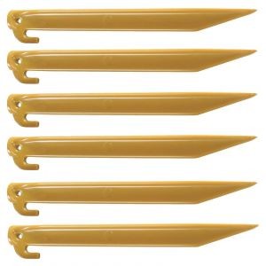 Coleman Accessory 300mm ABS Pegs 6 Pack Durable Rust Proof Spare Camping Outdoor