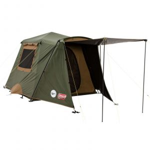 Coleman Tent Instant Up 4 Person Gold Series Darkroom Blocks Sunlight Camping