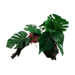 Plastic Plant On Driftwood 37Cm 370X255X270 Ipetz