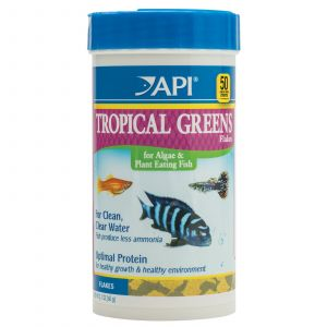API Tropical Greens Fish Food Flakes 60g Mollies Swordtails Guppies Made In USA