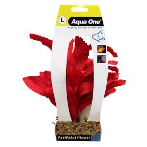 Aquarium Silk Plant RED SWORD with Gravel Base LARGE 29077 Fish Tank Aqua One