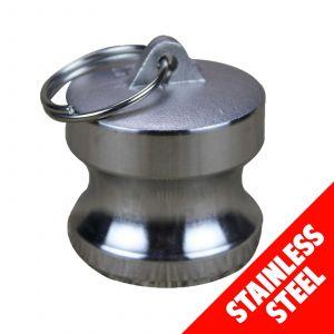 "Camlock STAINLESS STEEL 316 40mm (1 1/2"") Type DP Dust Plug Cam Lock Coupling"