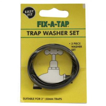 Fix-A-Tap Trap Washer Set 3 Piece Suits 2 Inch 50mm Traps 205001 Plumbing