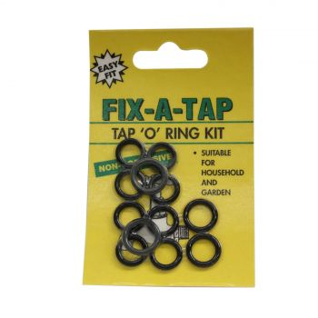 Fix-A-Tap Tap 'O' Ring Kit 12 Pack Household and Garden 207029 Plumbing