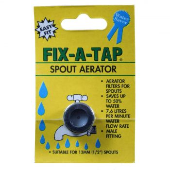 Fix-A-Tap Spout Aerator For 13mm 1/2 Inch Spouts Save Water Male Fitting 209276