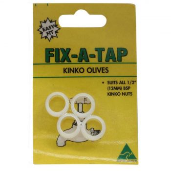 Fix-A-Tap Kinko Olives Suits 1/2 Inch 12mm BSP Nuts 209801 Plumbing