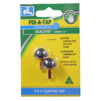 Fix-A-Tap Sealtite Tap Valve 2 Pack Dome Shaped For An Easy Turn 211231