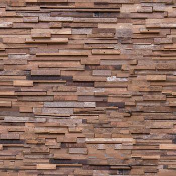 Teak Story Recycled Teak Wall Paneling CONSTANTIN 1 Sq Metre per Box (8 Pieces)